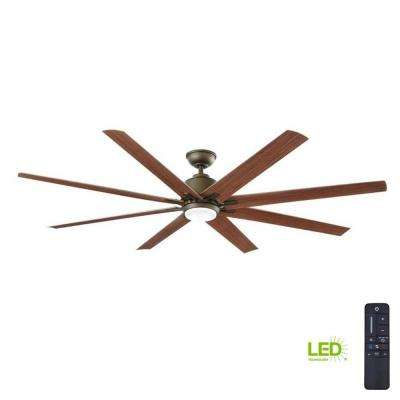 Led Indoor Outdoor Espresso Bronze Ceiling Fan With Remote Control