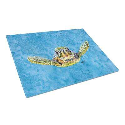Turtle Tempered Glass Large Heat Resistant Cutting Board