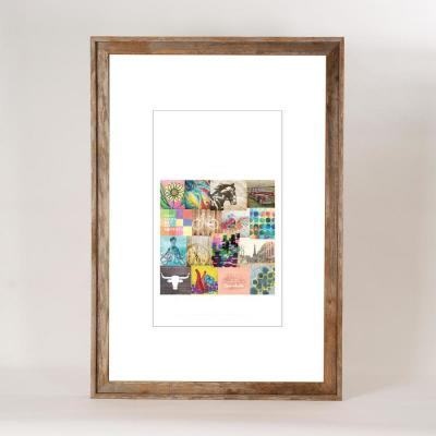 24 in. x 36 in. Rustic Reclaimed Barnwood Picture Frame