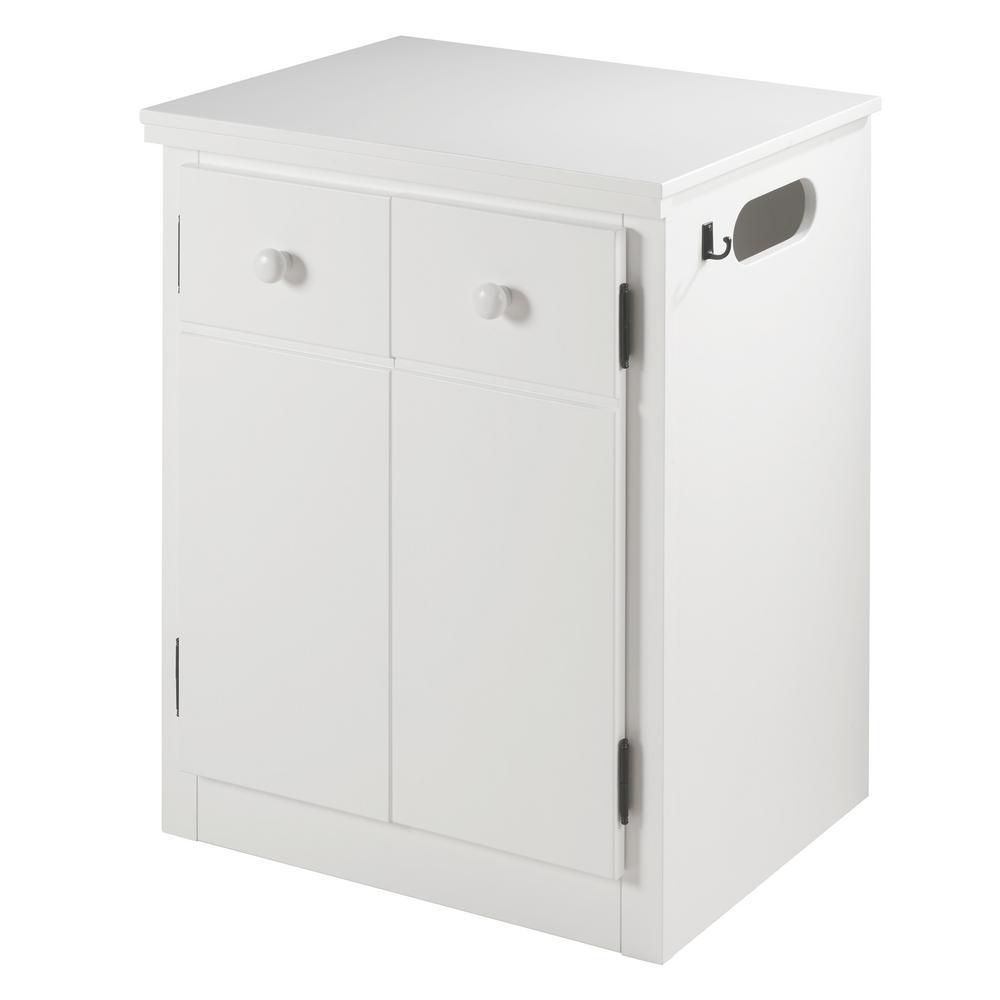 Cpap 2 Door White Nightstand