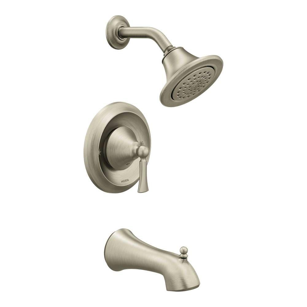 MOEN Wynford Single-Handle 1-Spray Posi-Temp Tub and Shower Faucet ...
