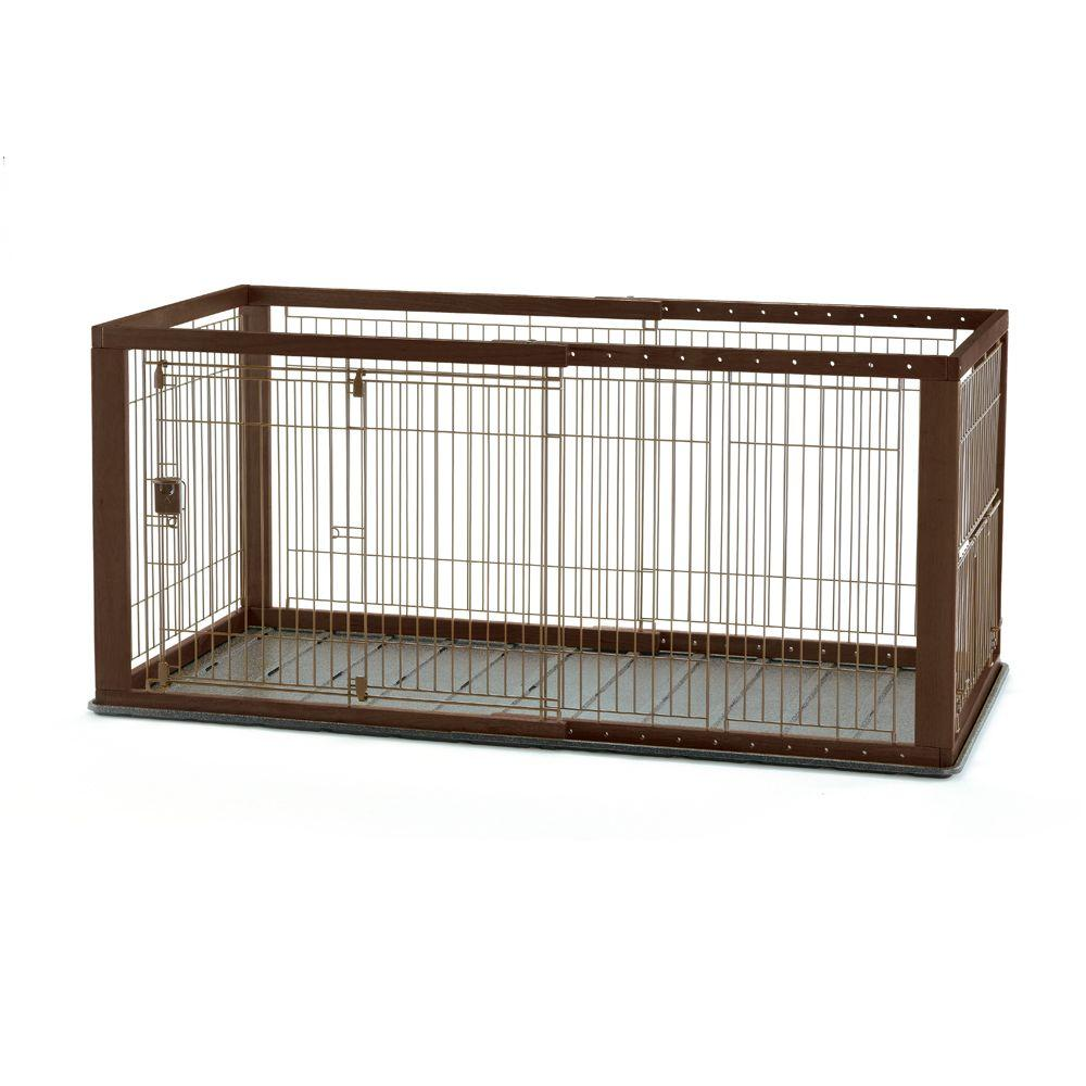 Richell Medium Expandable Pet Crate with Floor Tray