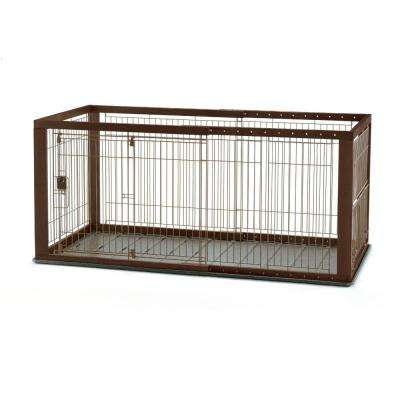 Medium Expandable Pet Crate with Floor Tray