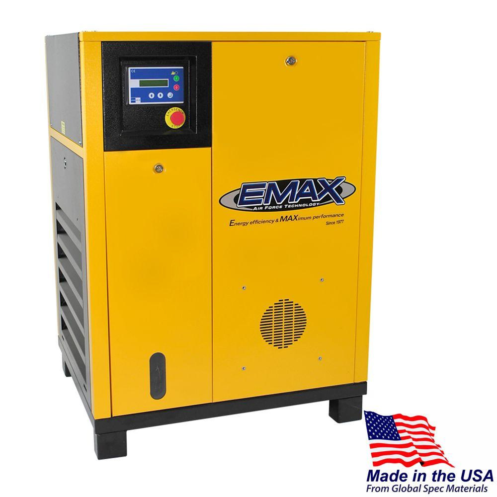 Premium Series 7.5 HP 3-Phase Stationary Electric Rotary Screw Air Compressor