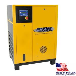 EMAX Premium Series 7.5 HP 3-Phase Stationary Electric Rotary Screw Air Compressor by EMAX