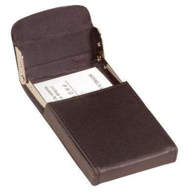 Vertical Framed Business Card Case Wallet in Genuine Leather