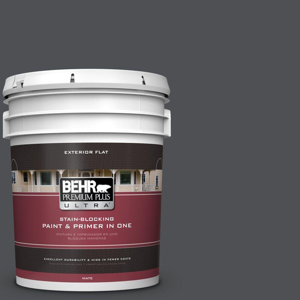 BEHR Premium Plus Ultra 5-gal. #770F-6 Evening Hush Flat Exterior Paint