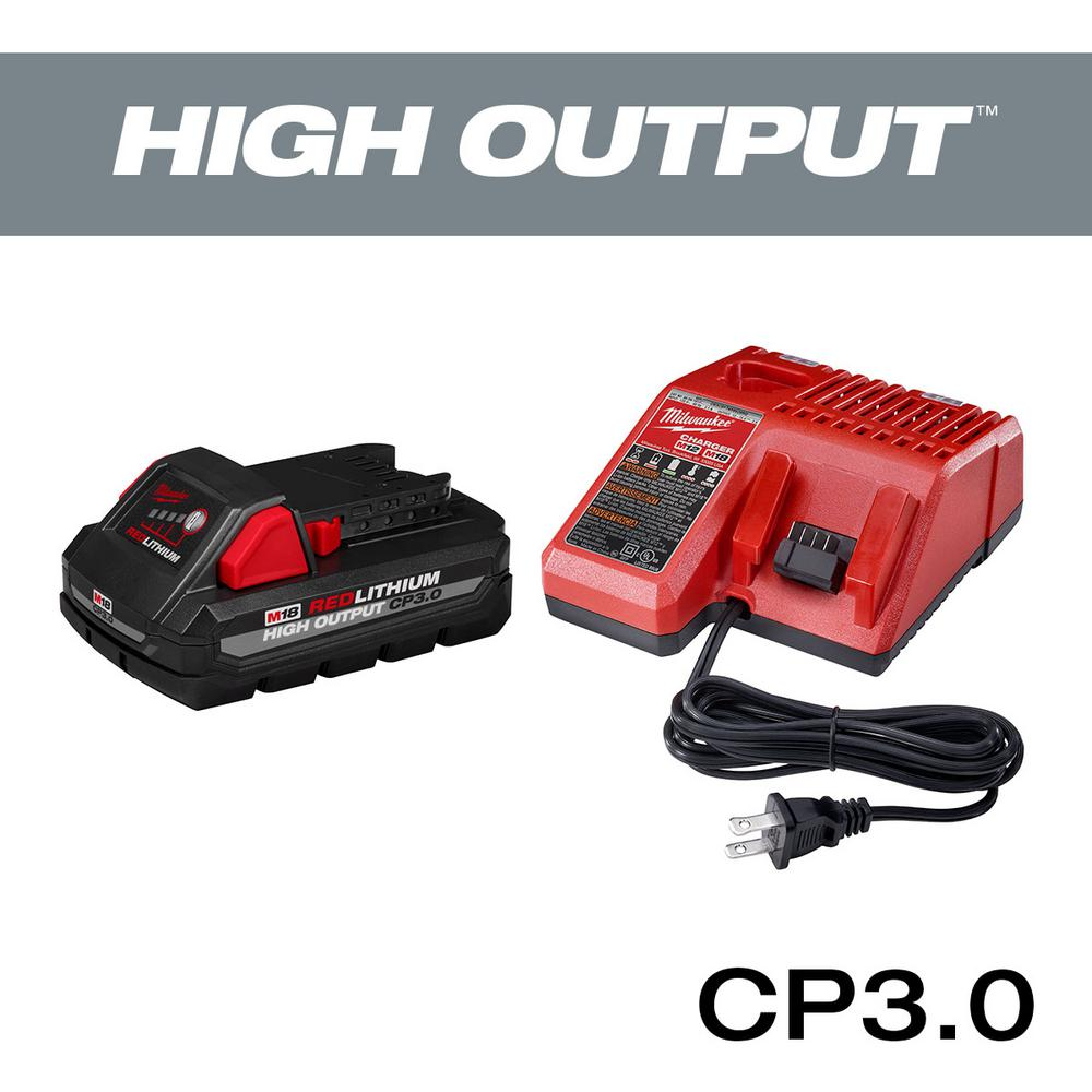 Milwaukee M18 18-Volt Lithium-Ion HIGH OUTPUT Starter Kit with One 3.0Ah Battery and Charger