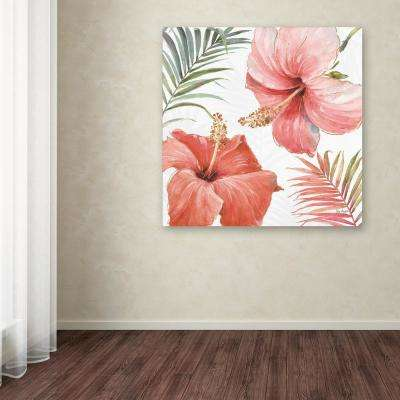 """24 in. x 24 in. """"Tropical Blush III"""" by Lisa Audit Printed Canvas Wall Art"""