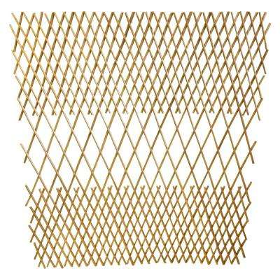 48 in. H Peeled Willow Middle Open Pattern Fence