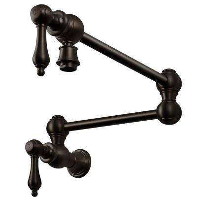 Manchester Traditional Wall Mounted Potfiller with CeraDox Technology in Oil Rubbed Bronze