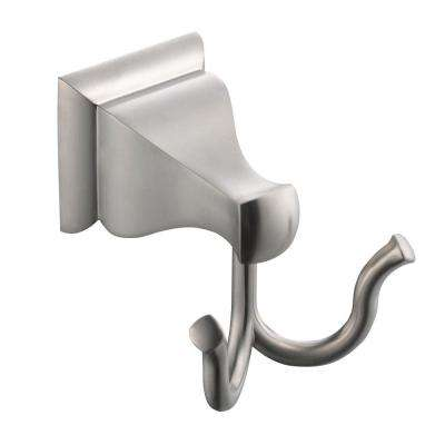 Milner Double Robe Hook in Brushed Nickel