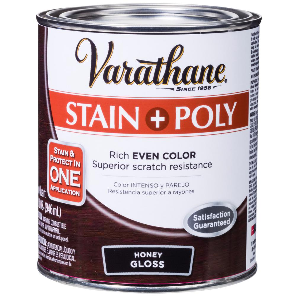Varathane 1-qt. Honey Gloss Water-Based Interior Stain and Polyurethane (2-Pack)