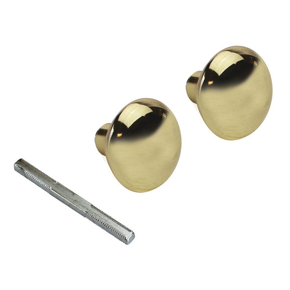 2-1/4 in. Solid Brass Door Knob (2 per Pack)