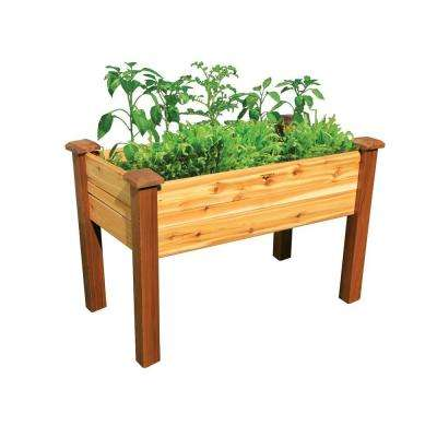 48 in. x 24 in. Safe Finish Cedar Elevated Garden Bed