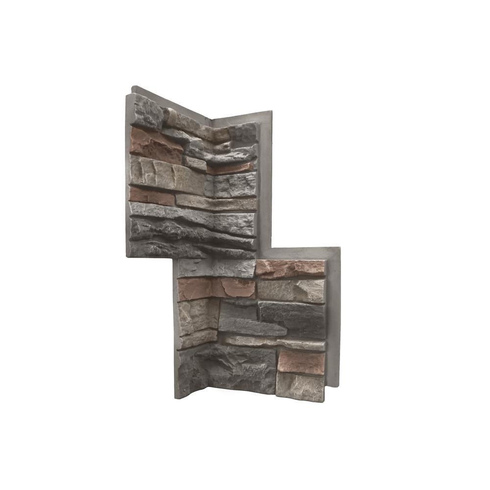 Genstone Stacked Stone Kenai 24 In X 12 In Faux Stone