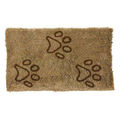 Comfy Pooch Clean Paw Beige/Brown 21 in. x 30 in. Pet Mat