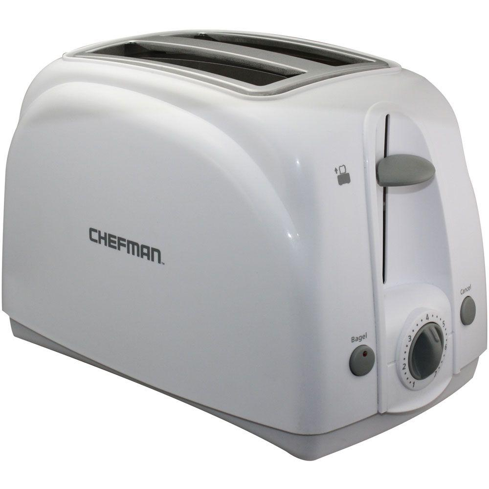 Chefman 2-Slice Toaster with Extra-Wide Slots in White-DISCONTINUED