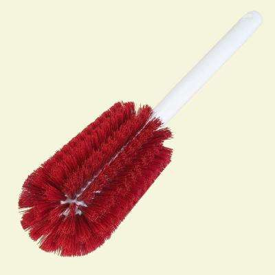 3.25 in. Diameter Red Bristles Bottle Brush with 16 in. Handle (Case of 12)