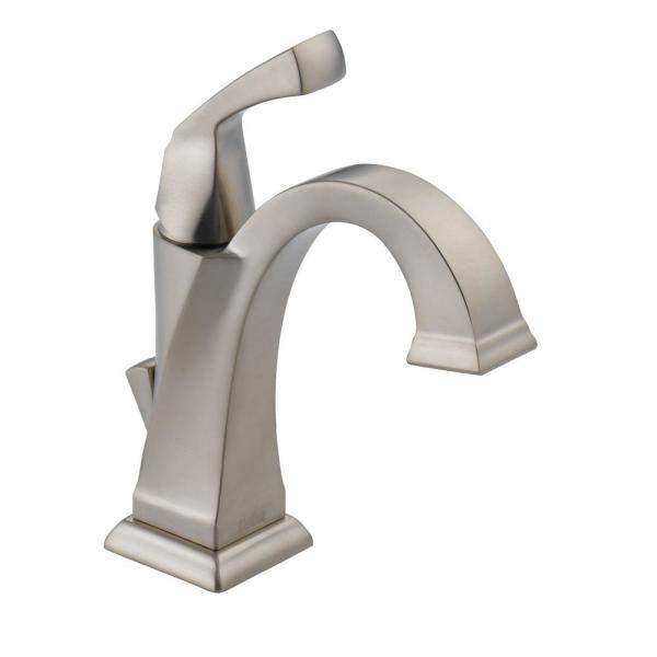 Dryden Single Hole Single-Handle Bathroom Faucet with Metal Drain Assembly in SpotShield Stainless