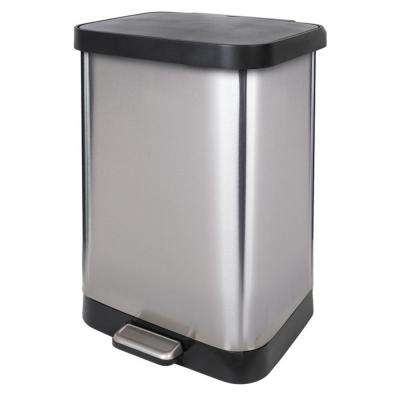 13 Gal. Stainless Steel Step Can with Antimicrobial Lid