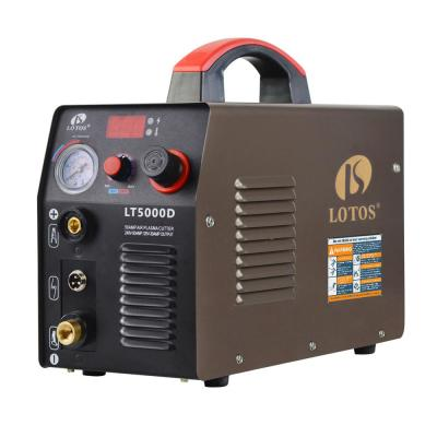 Lotos 50 Amp Compact Inverter Plasma Cutter for Metal, Dual Voltage 110/220V, 1/2-inch Clean Cut