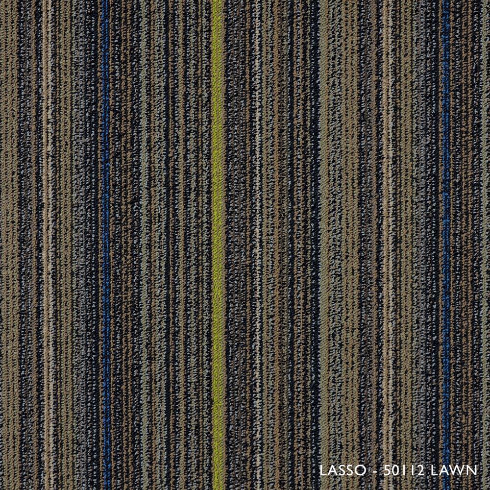 Lasso Lawn Loop 19.68 in. x 19.68 in. Carpet Tiles (8 Tiles/Case)