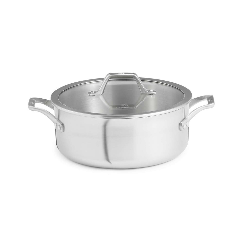 Signature 5 qt. Stainless Steel Dutch Oven with Cover