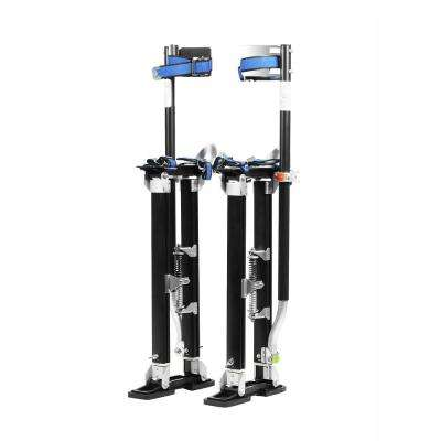 24 in. to 40 in. Black Mag Pros Magnesium Drywall Stilts