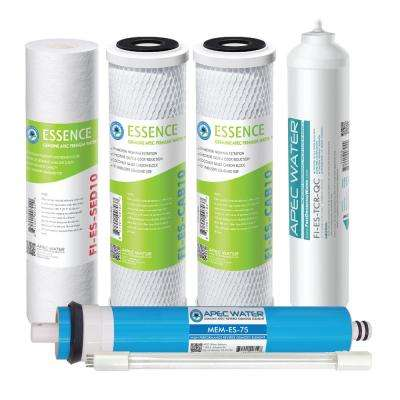Essence Under Sink System ROES-UV75-SS Replacement Water Filter Cartridge Complete Filter Set Stage 1-6