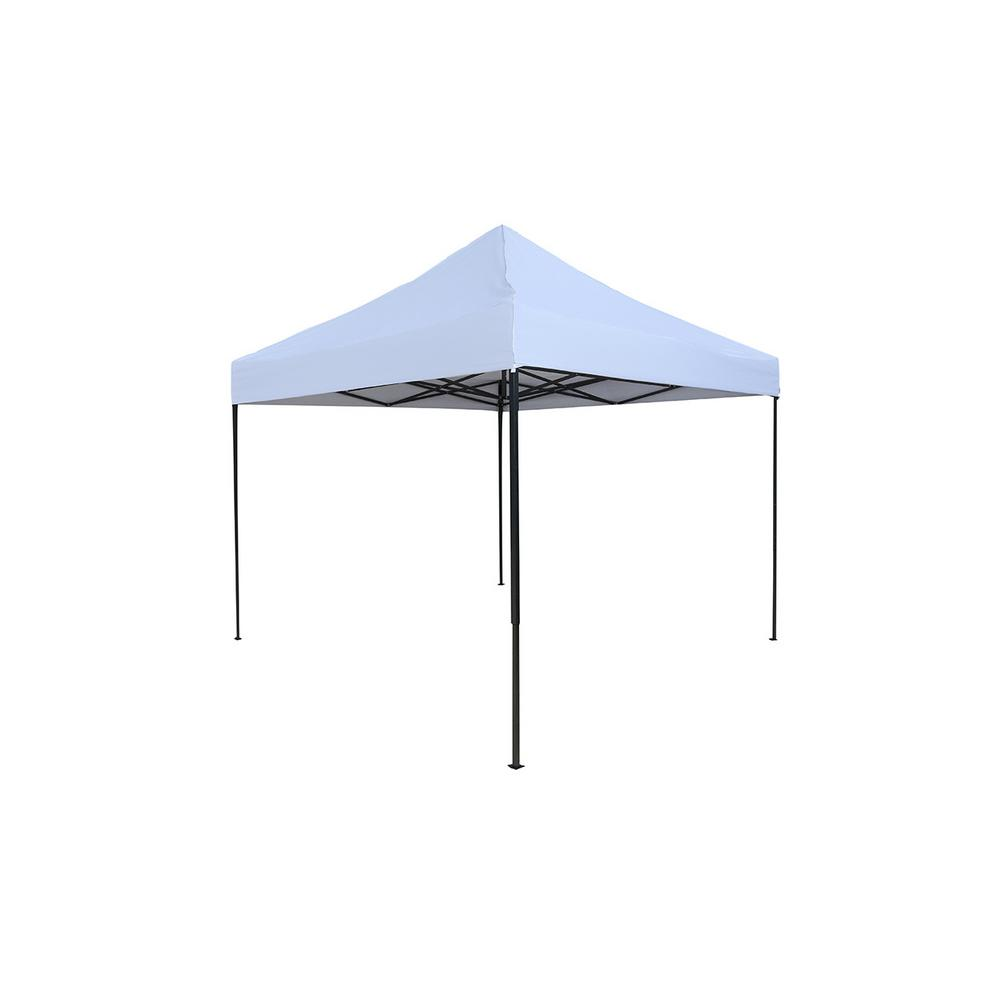 Lightweight and Portable 10 ft. x 10 ft. Canopy tent set (White Canopy Cover)  sc 1 st  The Home Depot & Trademark Innovations Lightweight and Portable 10 ft. x 10 ft ...