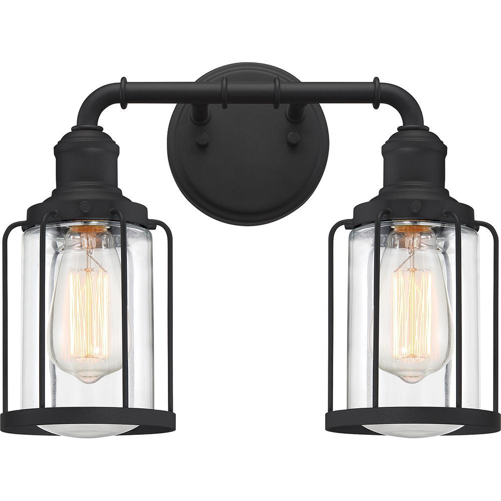 Ludlow 2-Light Earth Black Vanity Light