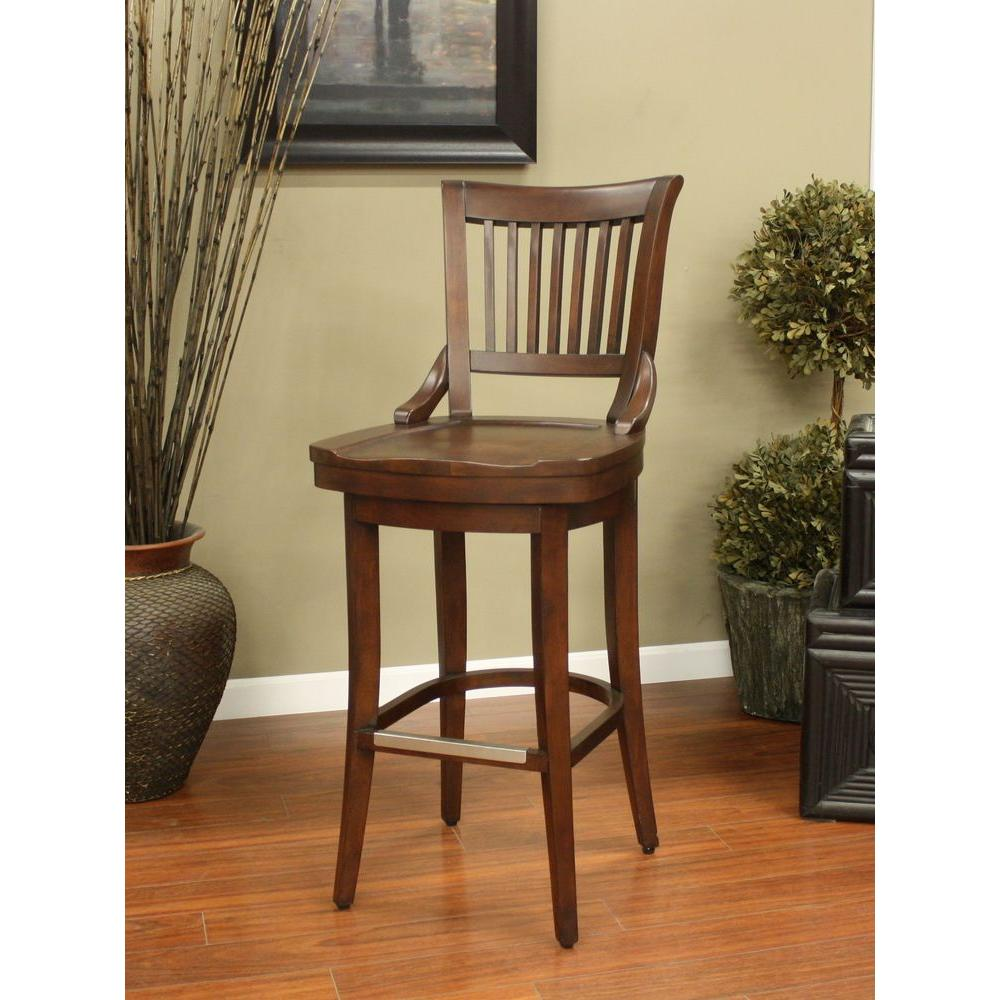 American Heritage Liberty 26 In Suede Bar Stool 126755sd