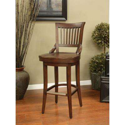 Liberty 26 in. Suede Bar Stool