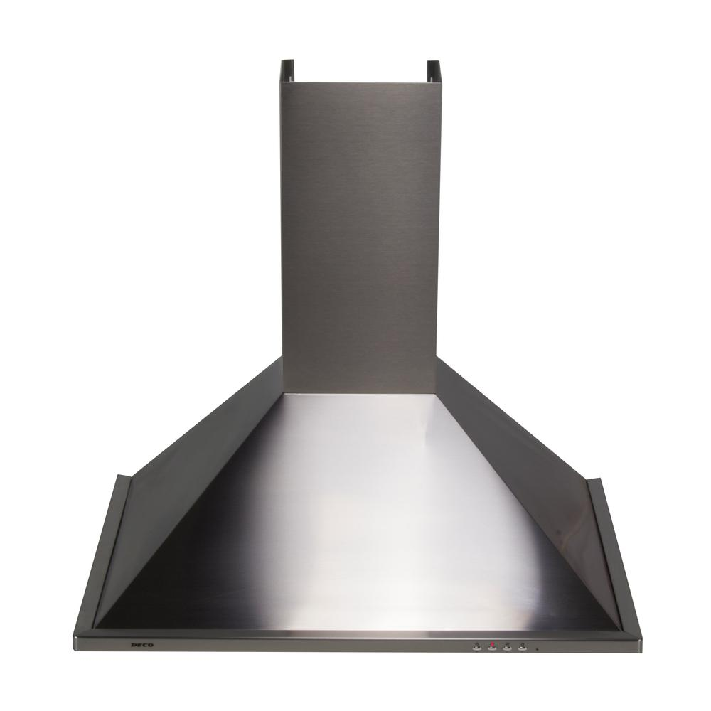 30 in. Wall Mounted Trapezoidal Range Hood in Stainless Steel