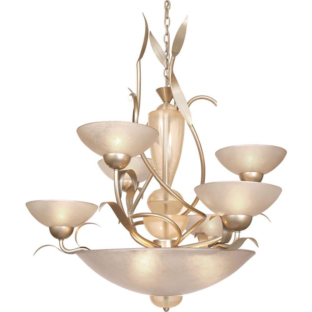Filament Design Century 9-Light Autumn Silver Chandelier