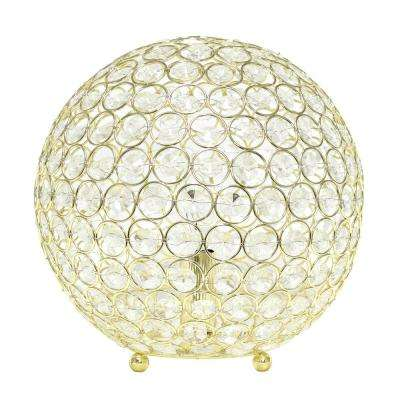 10 in. Gold Crystal Ball Sequin Table Lamp
