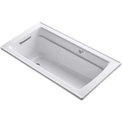 Archer 5 ft. Acrylic Rectangular Drop-in Whirlpool Bathtub in White