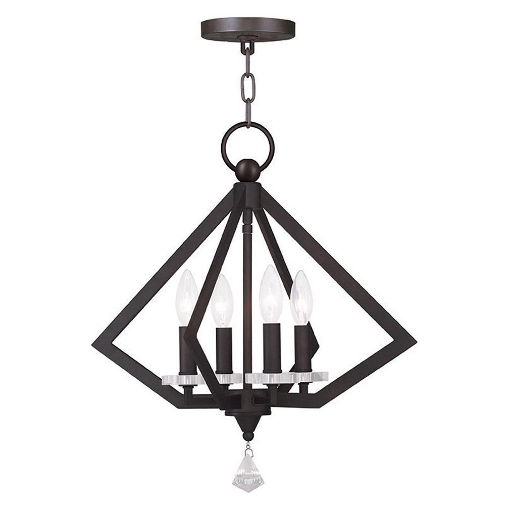 Diamond 4-Light Bronze Chandelier
