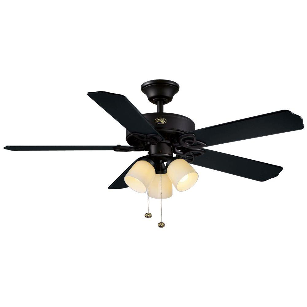 Hampton Bay Colby 52 in. Indoor Matte Black Ceiling Fan-DISCONTINUED