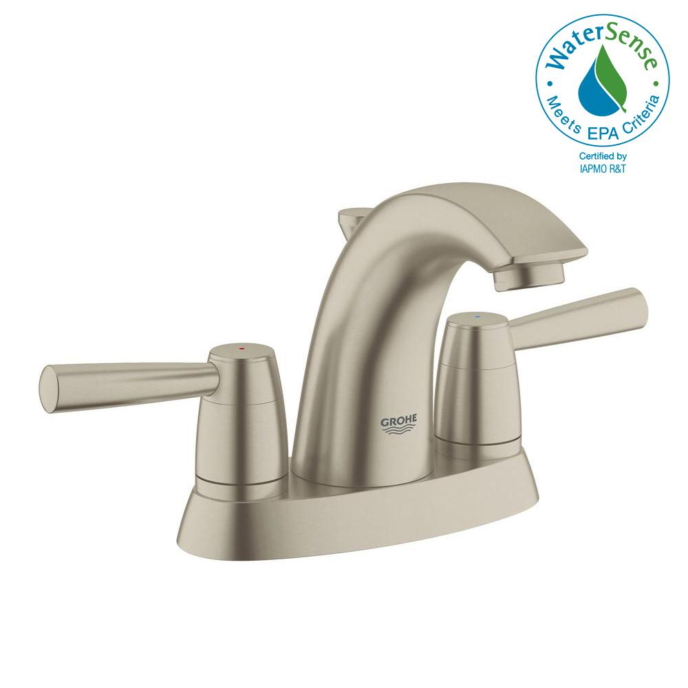 GROHE Arden 4 in. Centerset 2-Handle 1.2 GPM Bathroom Faucet in ...