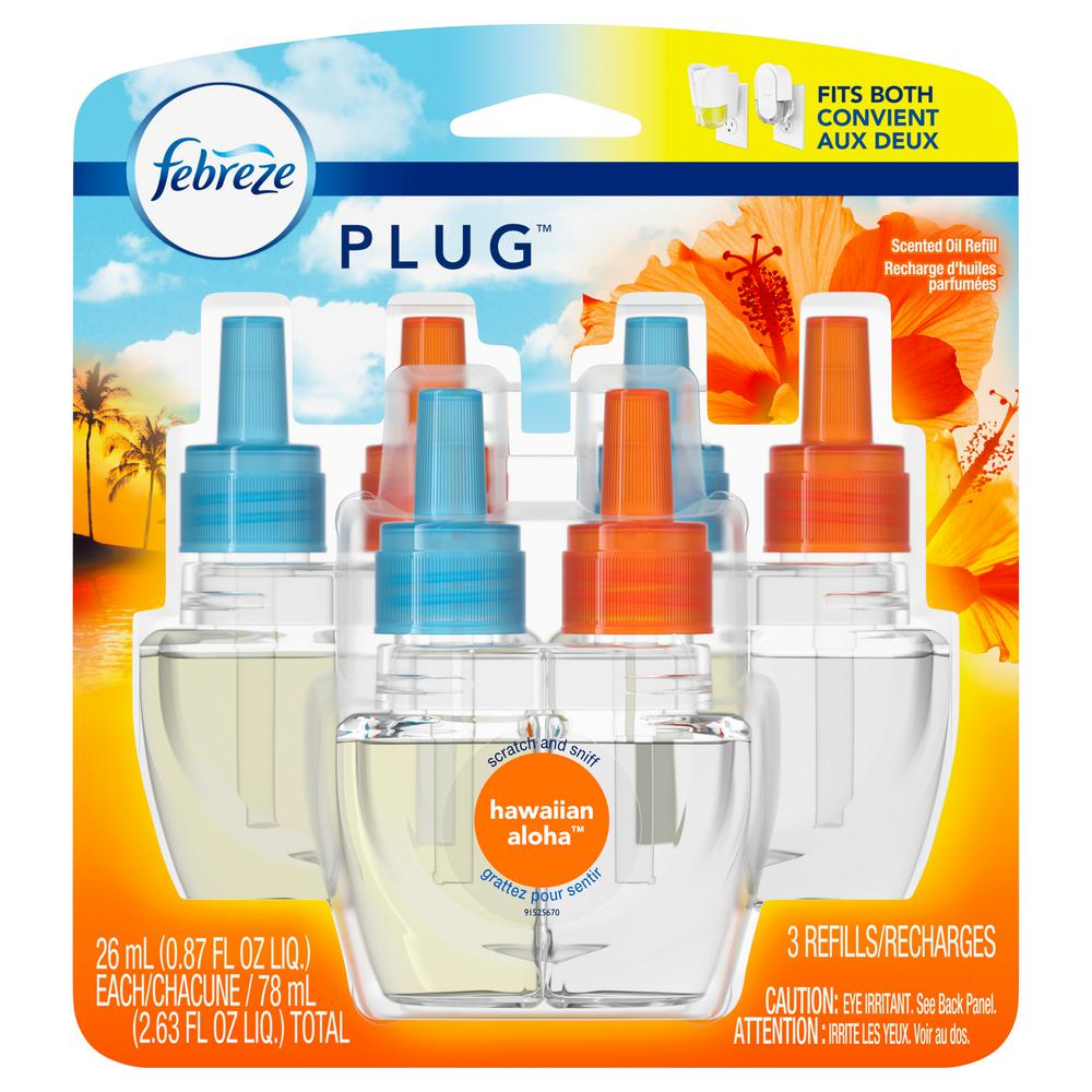 Febreze PLUG 2.63 oz. Hawaiian Aloha Scent Air Freshener ...