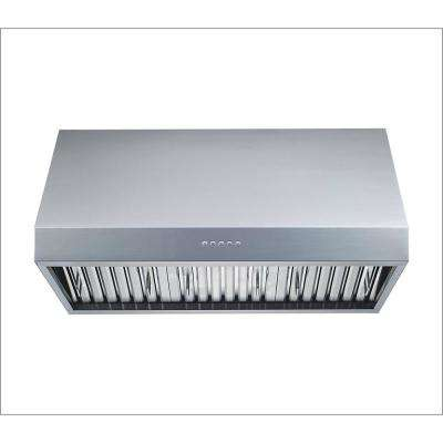 36 in. 1000 CFM Professional Grade Ducted Under Cabinet Range Hood in Stainless Steel with Baffle Filters