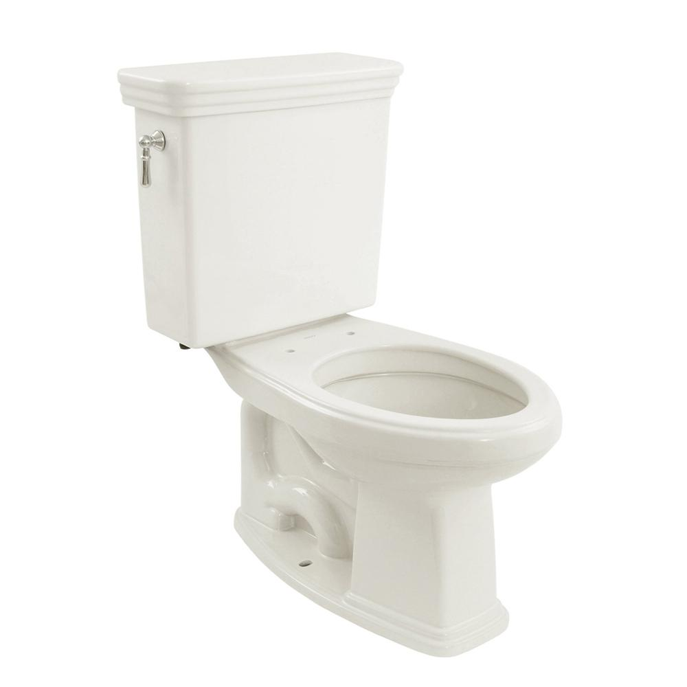TOTO Promenade 2 Piece 16 GPF Single Flush Elongated Toilet With CeFiONtect In Cotton White CST424SFG01