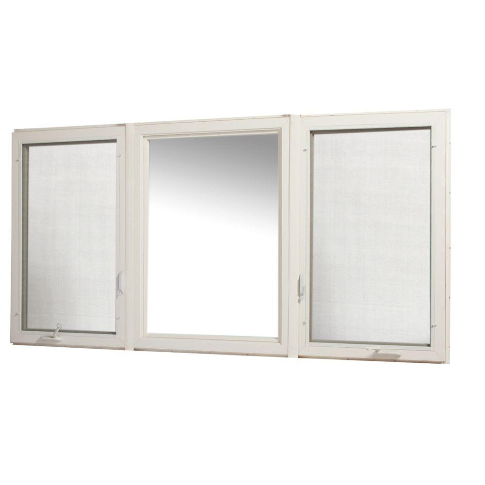 Tafco windows 95 in x 48 in vinyl casement window with for Vinyl casement windows