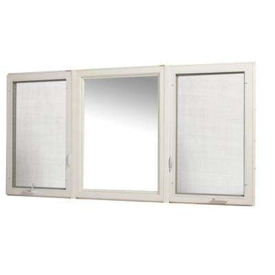 95 in. x 48 in. Vinyl Casement Window with Screen - White