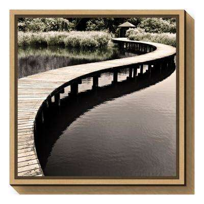 """Water Walkway"" by Eric Chan Framed Canvas Wall Art"