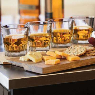 Craft Spirits 5.5 oz. Whiskey Flight Glass Set with Wood Carrier (4-Pack)