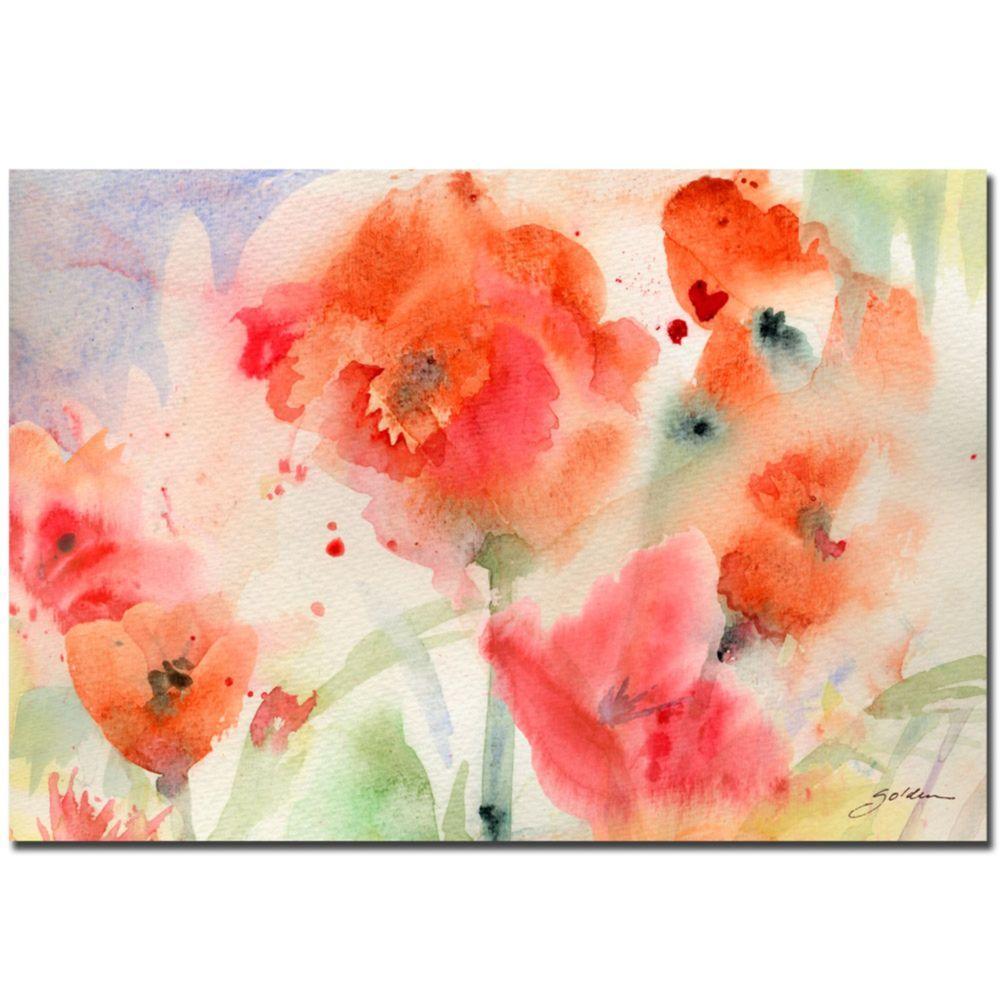 22 in. x 32 in. Flower Field Canvas Art