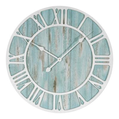 23.5 in. Round Coastal Decorative Quartz Wall Clock